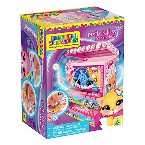 Orb Factory Sticky Mosaics Pretty Kitties Jewelry Box Kit by The Orb Factory