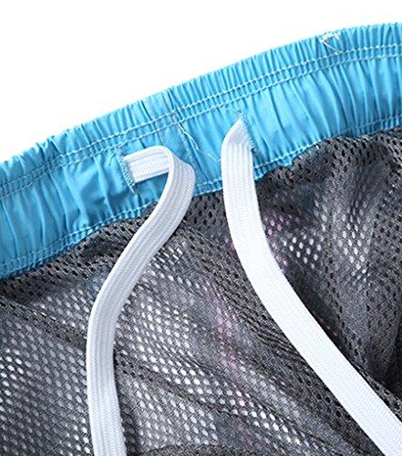 NiSeng Homme Casual Boardshorts 3D Impression Numérique Surf Shorts Plage Pantalon à Séchage Rapide 03