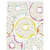 Unique Party 72593 - Bolsas de papel, diseño de donut, 8 unidades