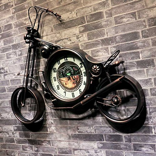@ XMM & - Eisen Motorrad Harley Wanduhr Industrial Wind Net Coffee Shop Kreative Wand dekorative Uhr Uhr (Harley Motorrad Uhr)