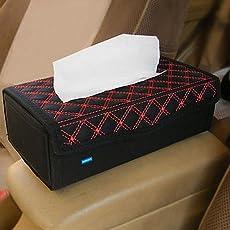 Nikavi RT01 Portable Leather Rectangular Tissue Cover Box (Red)