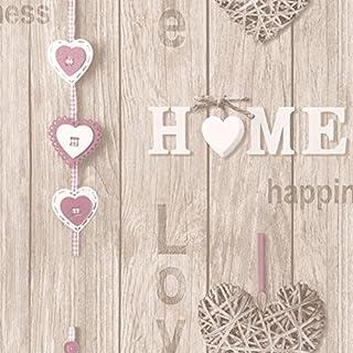 Fine Decor Love Your Home Wallpaper - Lilac FD41720