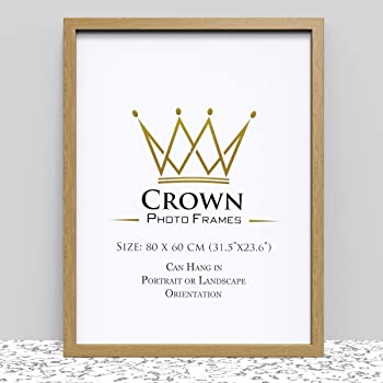 Crown Oak Photo Frame for 80 x 60 cm (31.5x23.6 Inches) Picture ...