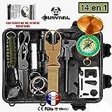Kit de survie d'urgence Multi-outils 14en1 Avec...