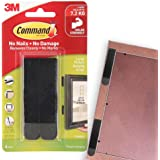Command Large Picture Hanging Strips,4 Pairs, Holds upto 7.2Kg,Holds Strong, Damage Free Walls, Self Adhesive, Black