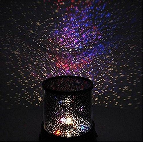 1 proiettore di luce notturna per la camera dei bambini, con effetto notte stellata