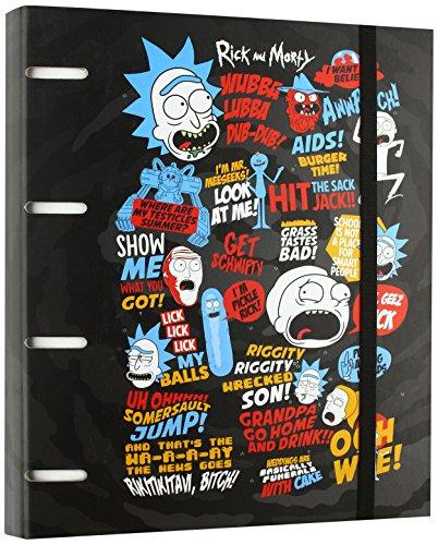 Grupo Erik Editores Rick & Morty - Carpeta con 4 anillas troquelada, 32 x 27.5 cm
