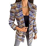 shownicer Blazer Donna Elegante Manica Lunga Scollo a V Giacca Blazer Moda Classico Giacche Casual Ufficio Business Ol Cardig