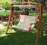 Papillon 2-Sitzer-Gartenschaukel aus Lärchenholz Modell Salemi