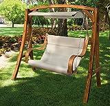 2-Sitzer-Gartenschaukel aus Lärchenholz Modell Salemi