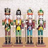 F Fityle 30cm Viva Figuras de Soldado Madera Modelo de Cascanueces Ornamentos de Artesanía de Cascanueces para Navidad - A
