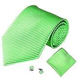 AIni Herren Krawatte,Mode Elegant Beiläufiges 3 STÜCKE Klassische Party Krawatte Einstecktuch Taschentuch Manschet Tenknopf Fliegen Hochzeits Party Fest Anzug Krawatte