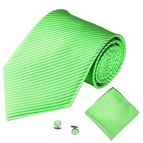 Xmiral Männer Klassische Krawatte Party Taschentuch Krawatte/Einstecktuch / Manschettenknöpfe 3 STÜCKE(P)