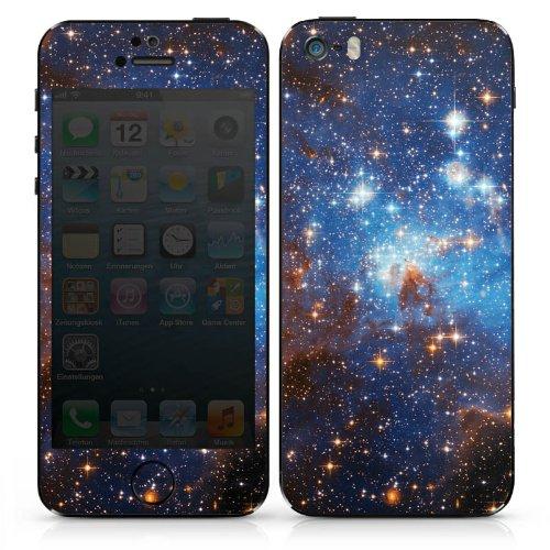 Apple iPhone 5 Case Skin Sticker aus Vinyl-Folie Aufkleber Space Galaxy Große Margellansche Wolke DesignSkins® glänzend