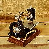 GFEI Maquina de coser antigua retro muebles hogar muebles hierro estaño modelo PROPS / tienda de ropa la decoracion de ventana,Un