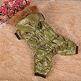Dobaz Hundeoverall Winter für kleine SCHMALE Hunde Hundeanzug Hundemantel mit Beinen Rückenlänge 30cm gefüttert Kapuze (14)