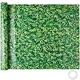 TecTake Balkonbespannung Sichtschutz Windschutz Sichtblende | Witterungsbeständig Größen (grünes Laub 0,75 x 6 m | No. 402705)