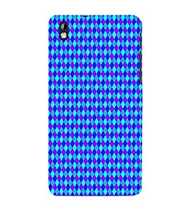 Fiobs Designer Phone Back Case Cover HTC Desire 816 :: HTC Desire 816 Dual Sim :: HTC Desire 816G Dual Sim ( Blue Purle Colorful Pattern Design )