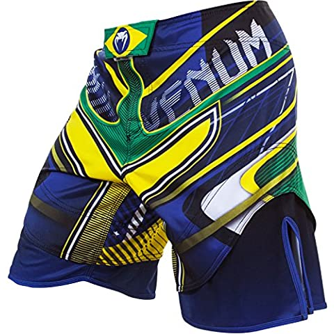 Venum, Pantaloni corti Brazilian Hero, Multicolore (Yellow/Blue/Green), M