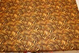 Tierdruck gold - 100 % Polyester Seidentaft - Meterware -