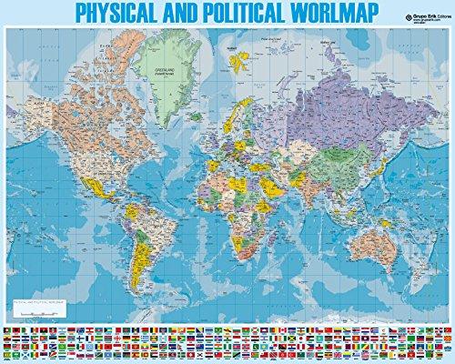 grupo-erik-editores-mapa-mundi-ingles-mini-poster-40-x-50-cm