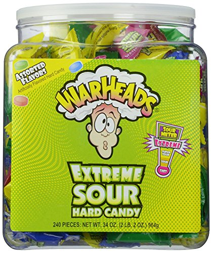 Warheads Extreme Sour Hard Candy - Dose mit 240 Stück