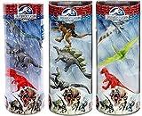Jurassic World Dinos Mosasaurus, Triceratops, Tyrannosaurus Rex, Spinosaurus, Stegosaurus, Velociraptor, Dimorphodon, Pteranodon & Pachycephalosaurus Mini Figure Bundle (Colors May VarY)