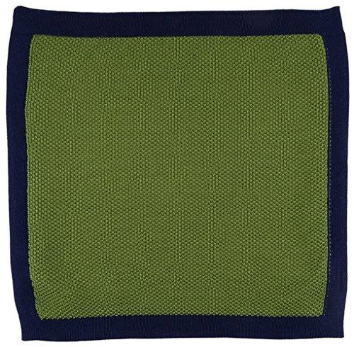 TigerTie concepteur corde pochette en unicolor - 100% coton vert marin