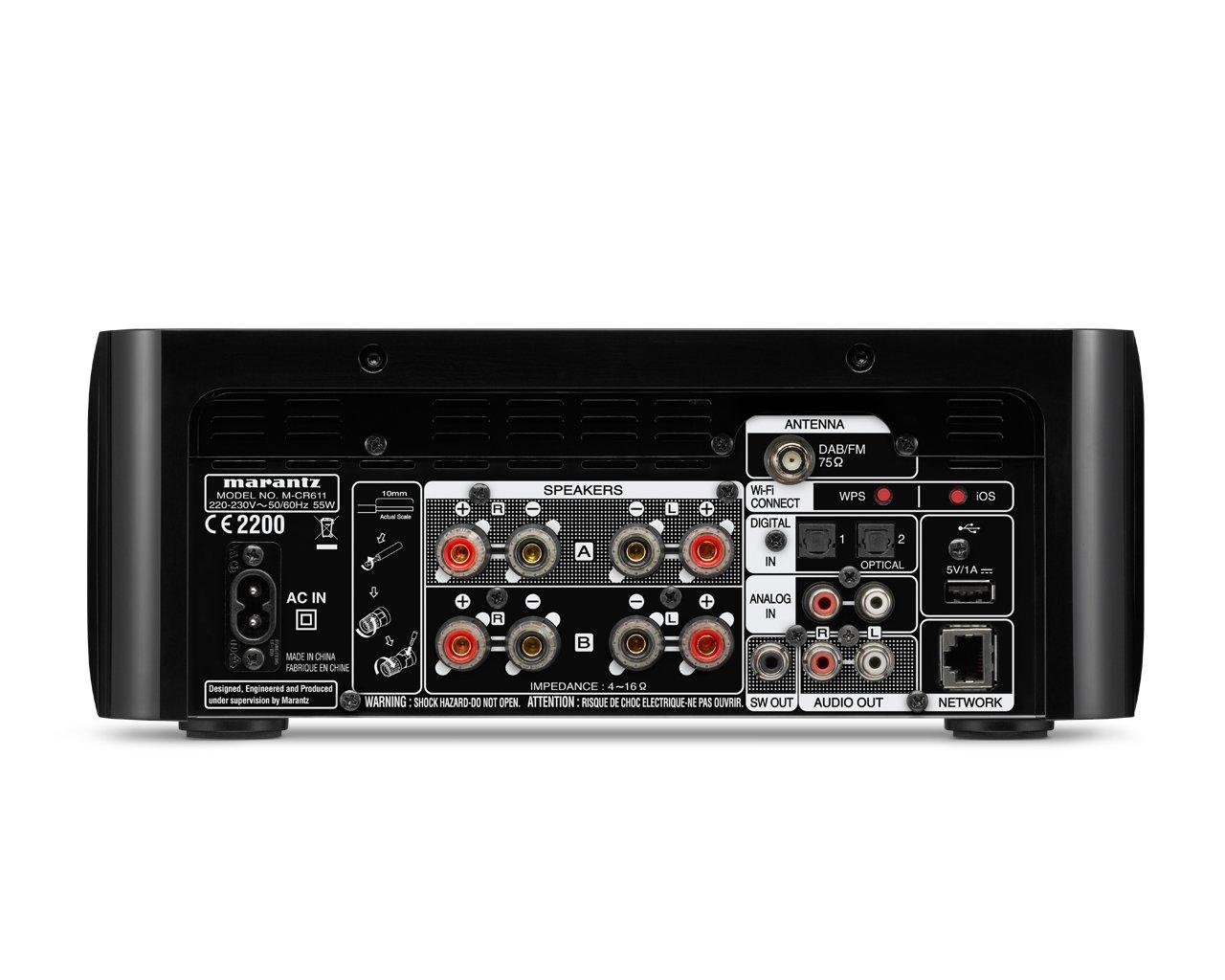 61QmPkJH 0L - Marantz M-CR611 Melody Media Network CD Receiver with DAB/DAB+ - Black
