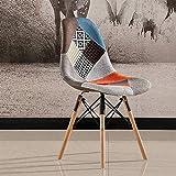 ChuanHan Esszimmerstuhl Nordischen Massivholz Stuhl Einfachen Kunststoff Stuhl Kunststoff Tuch Rezeption Stuhl Kreative Möbel, a, 44 * 46 * 82cm