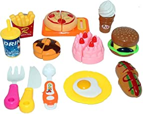 Halo Nation 12 pcs Fast Food Set, Kitchen Role, McDonalds Restaurant Role Pretend Play Toy for Kids