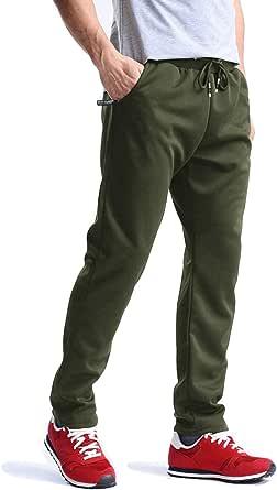 MAGCOMSEN Men's Cotton Tracksuit Bottoms Gym Casual Lightweight Joggers Men with Zipper Pockets Summer Running Trousers