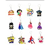 Kids Cartoon Character PVC Key Chains Collection - Set of 12 Key Chain