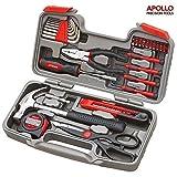 Apollo Precision Tools Set de herramientas con 39 piezas, para bricolaje, con alicates, en maletín - gran regalo