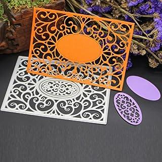 Amlaiworld Flower Heart Metal Cutting Dies Stencils DIY Scrapbooking Album Paper Card Craft (C)