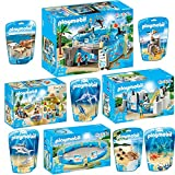 PLAYMOBIL® Family Fun 10er Set 9060 9061 9062 9063 9065 9066 9068 9069 9070 9071 Meeresaquarium + Aquarium-Shop + Pinguinbecken + Meerestierbecken + Hammerhai mit Baby + Krake mit Baby + Schwertfisch mit Baby + Robbe mit Babys + Pelikanfamilie + Wasserschildkröte mit Babys
