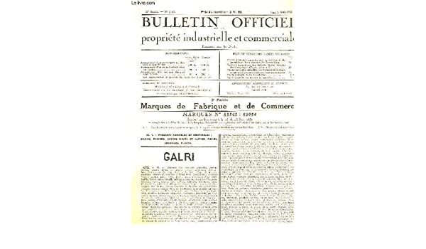 Bulletin. officiel. industrielle. de la propriété. Marques