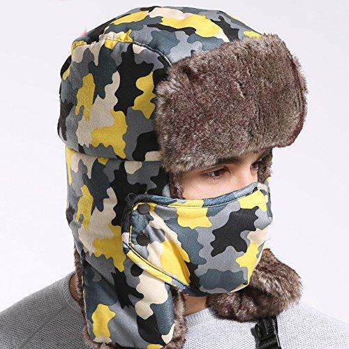 Trooper Russian Pilot Aviator Faux Rabbit Fur Leather Fall Winter
