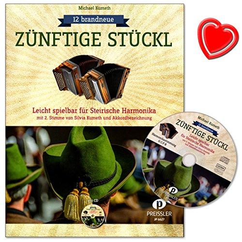 12-nuovo-di-zecca-zuenftige-stueckl-leggero-spielbar-per-steirische-armonica-con-2-voce-di-silvia-ku