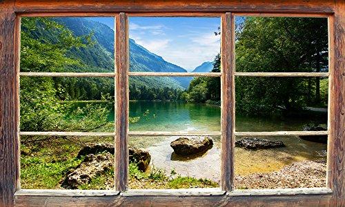 """Infrarotheizung Bildheizung PREMIUM, rahmenlos mit Bild, 780 Watt, 100x60x1,5 cm, Motiv \""""Holzfenster\"""""""