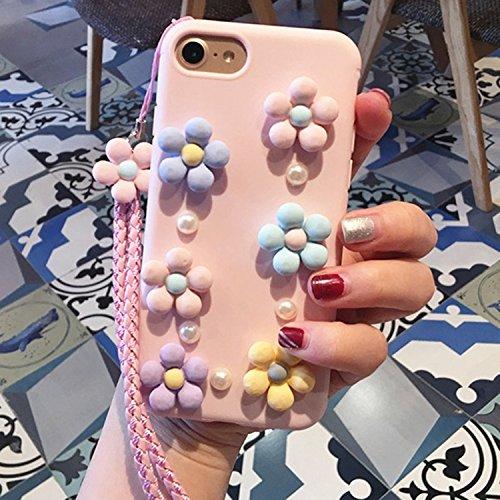 GHC Cases & Covers, 3D Gänseblümchen Muster Silikon Schutzhülle mit Schlinge, für iPhone 6 & 6s ( SKU : Ip6g0561a ) Ip6g0561b