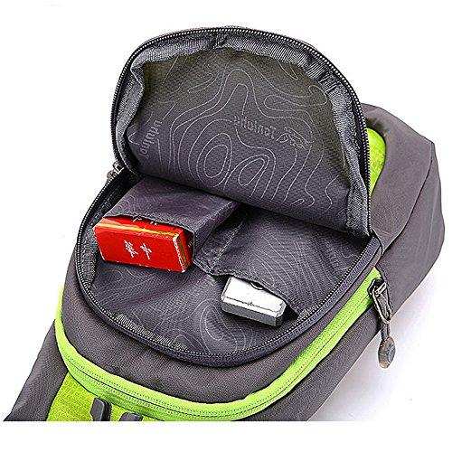 Tibes Sport Crossbody Tasche Leichte Sling Bag Tasche Frauen Brust Pack Nylon Wasserdichte Geldbörse für Männer / Mädchen Rot