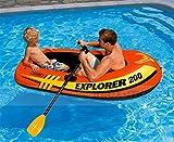 Lvmiao INTEX Explorer Zwei-Personen-Schlauchboot Pool Float Aufblasbare Schwimmende, Super Große Aufblasbare Wasser Float Pad Floating (73In X37inx16in)