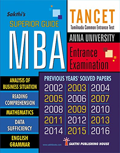 TANCET MBA SUPERIOR GUIDE (TANCET MBA Entrance Exam Preparation Guide)