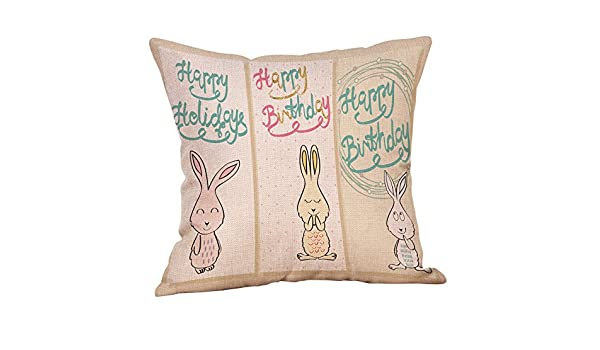 Sonojie Happy Easter Linen Pillow Cases