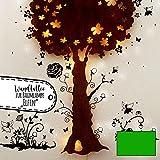 ilka parey wandtattoo-welt® Wandtattoo Wandbild Elfen und Feen mit fluoreszierenden Punkten M2121 - ausgewählte Farbe: *maigrün*