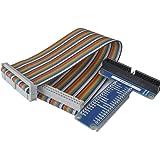 Kuman SC05 Rpi GPIO Carte D'extension + Câble Ruban Pour Raspberry Pi 3 2 Modèle B & B+ Adaptateur Type T GPIO 20cm FC40…