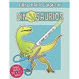 Dinosaurios: Libro de Colorear recortable para Niños de 4 a 8 Años