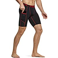TSLA Men's Running Compression Shorts, Gym Sports Workout Exercise Base Layer Short, Tights Leggings Underwear