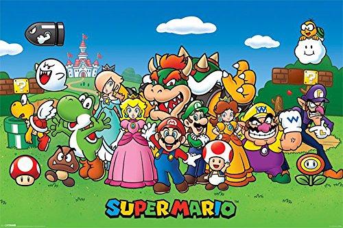 empireposter - Nintendo - Super Mario Bunch of Characters - Größe (cm), ca. 91,5x61 - Poster, NEU -